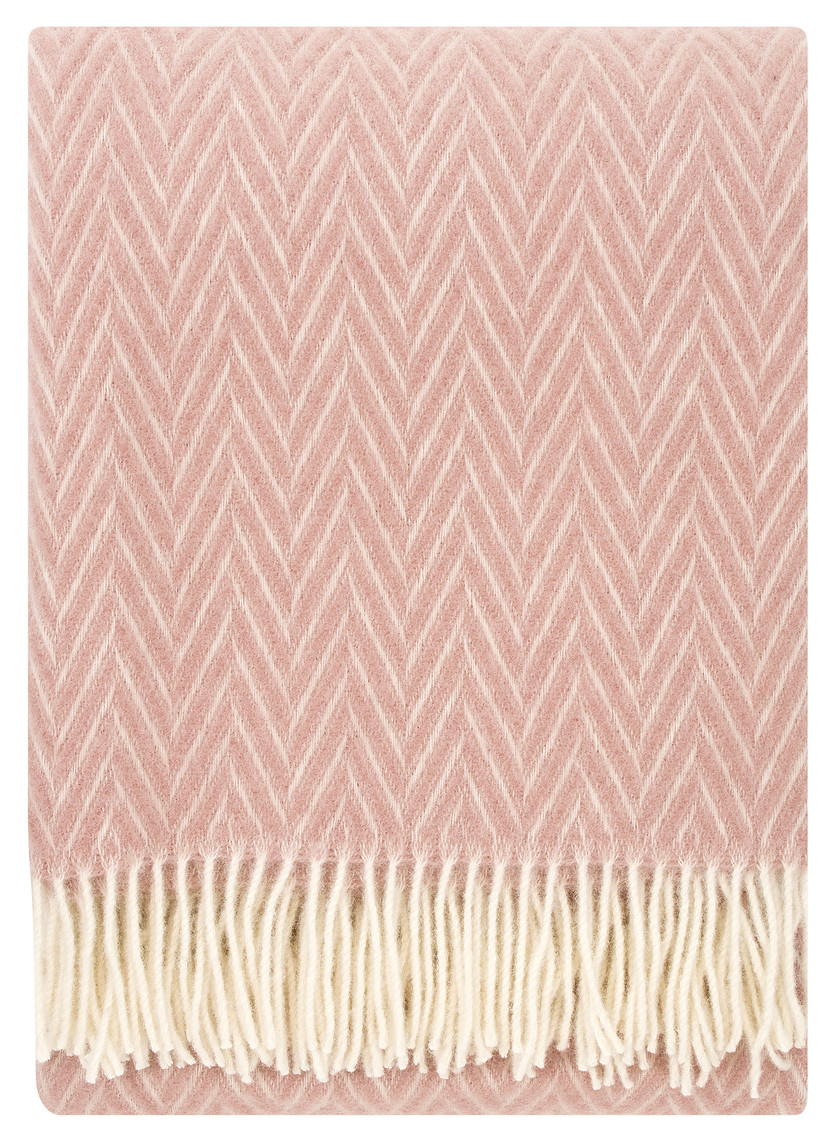 IIDA Wool Blanket Rose-White