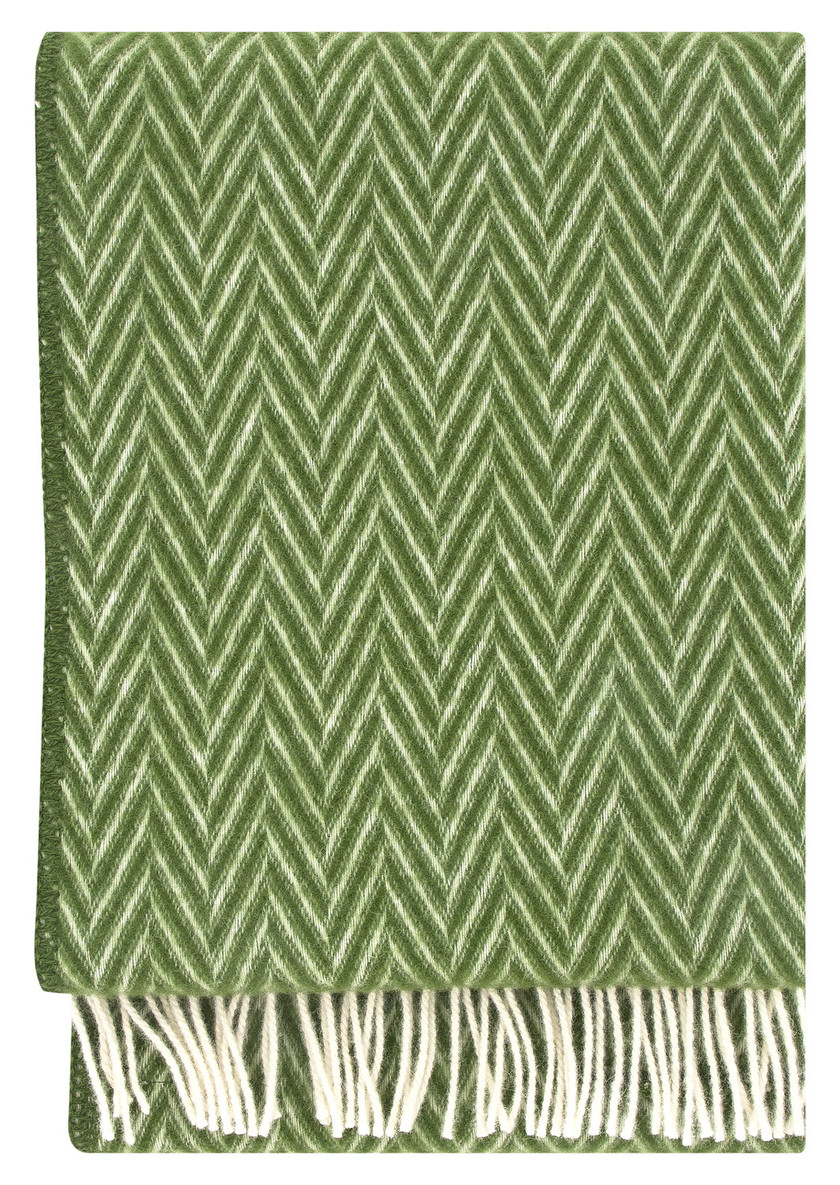 IIDA Wool Blanket Moss-White