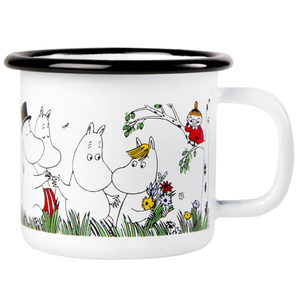 Moomin Happy Family Enamel Mug