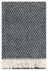 IIDA Wool Blanket Black-White