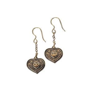 Eura Heart Bronze Earrings