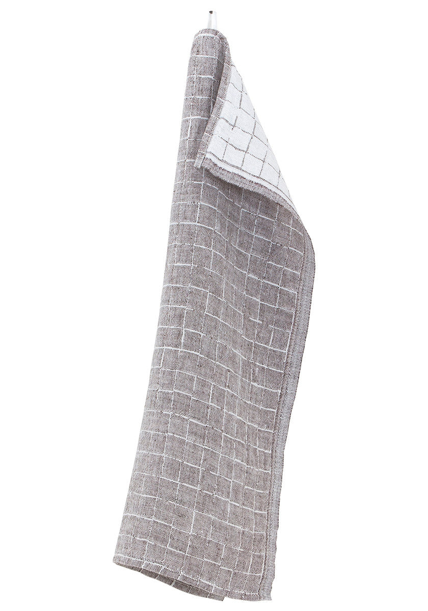 Lastu Tea Towel Brown Linen