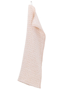 MAUSTE Towel Cinnamon- White