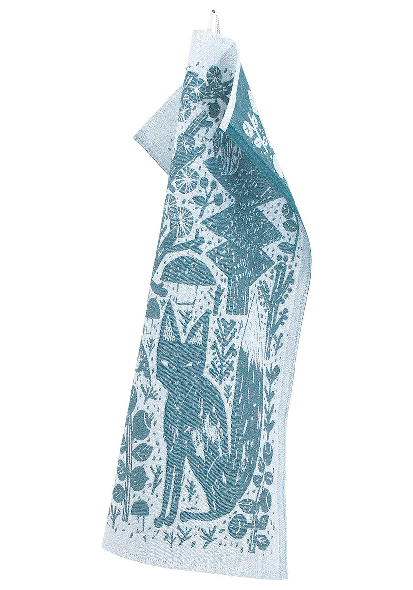 Metsikkö Tea Towel Blue- White