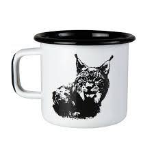 Nordic the lynx Enamel Mug