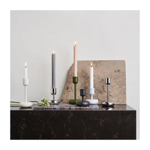 Large Nappula Stainless Steel Candleholder