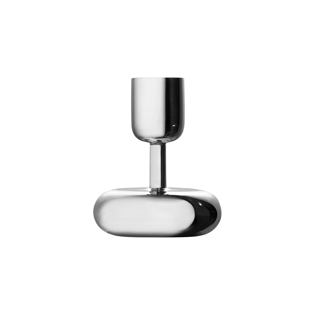 Small Nappula Stainless Steel Candleholder