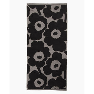 Unikko Black Jacquard Bath Towel