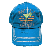 "Load image into Gallery viewer, Vintage look fun ""Mamacita needs a Margarita"" baseball Hat 