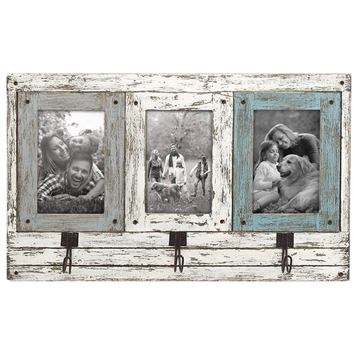 4x6 Three Photo Hang Frame w/Hooks