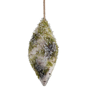 Birch Double Point Ornament w/ Ice/Moss