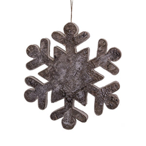 Birch w/ Glitter Snowflake Ornament