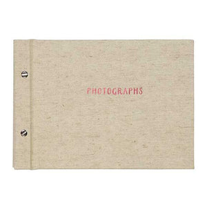 Post Bound photo album, Pineapple Linen