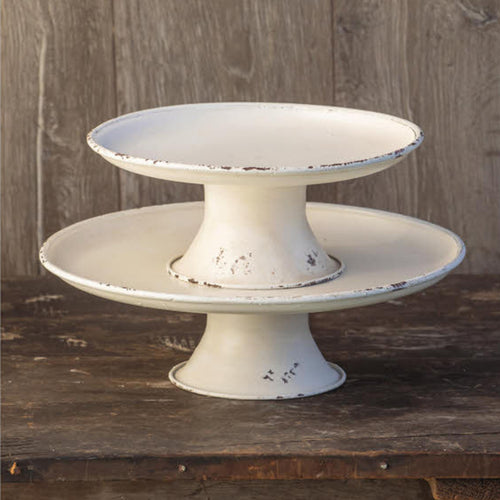 White Metal Rounded Pedestals