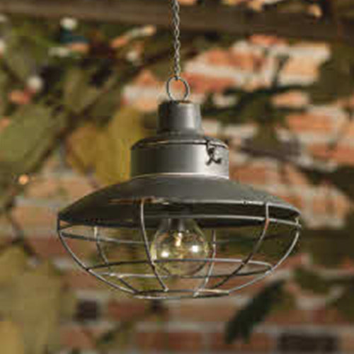 Round James metal hanging LED lantern
