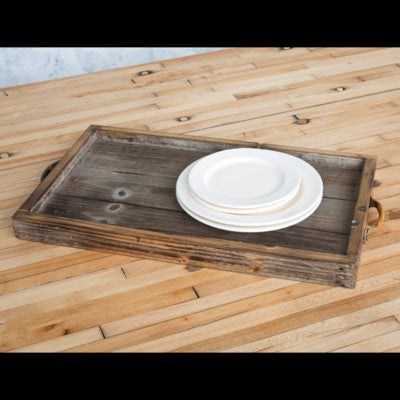 Reclaimed Wood Tray with handles