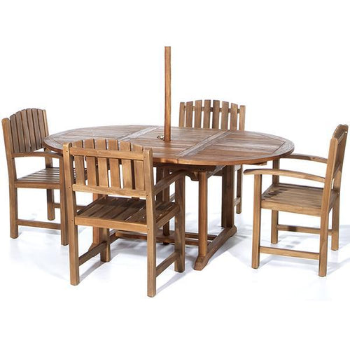 5pc Dining Chair and Oval Table Set