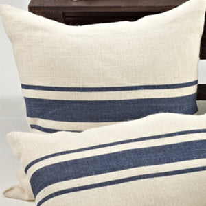 Striped Design Jute Pillow-Filled-Square