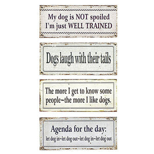 Metal Wall Decor w/Dog Saying