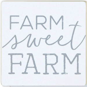"""Farm Sweet Farm"" 4 pack of coasters"