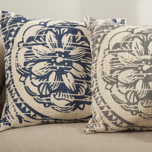 Floral Distressed Pillow-Square