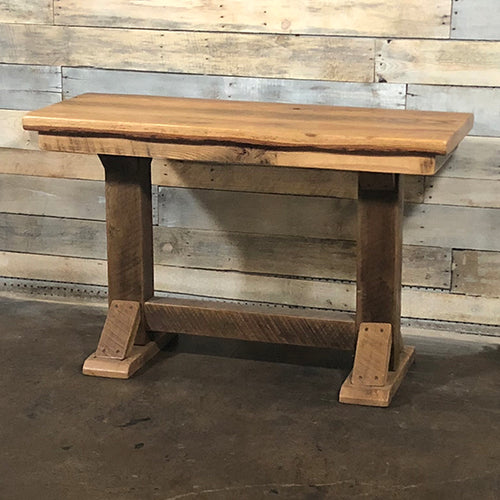 Reclaimed Barn Wood Trestle Style Sofa Table
