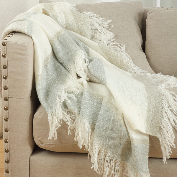 Faux Mohair Design Throw