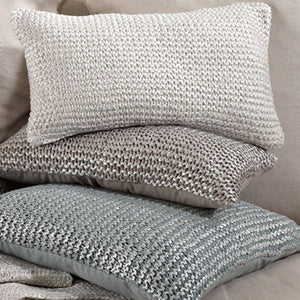 Knitted Design Pillow Filled Oblong