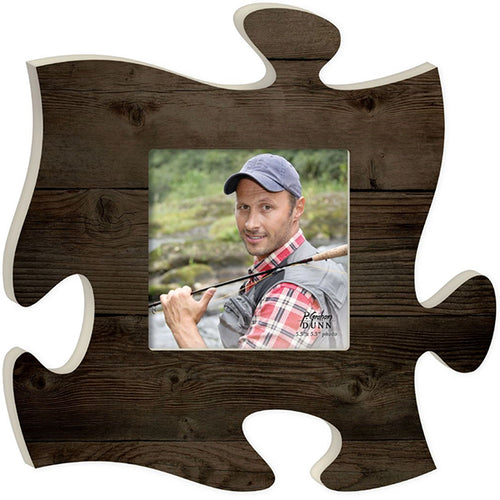 Dark Wood Puzzle Piece Frame