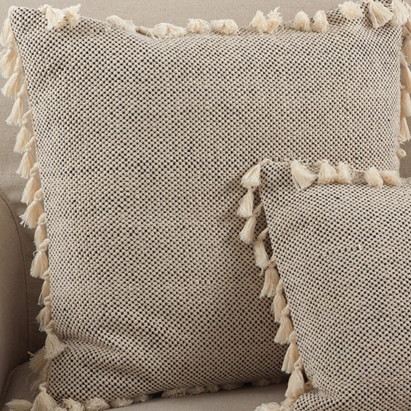 Tasseled Moroccan Pillow Filled Square