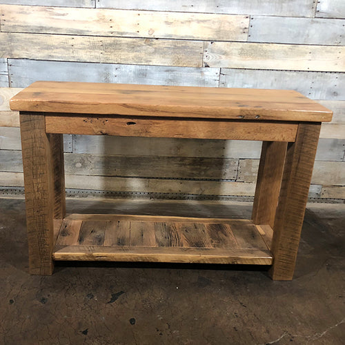 Reclaimed Barn Wood Sofa Table