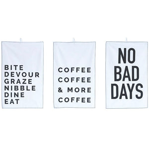 Cotton Tea Towel w/sayings
