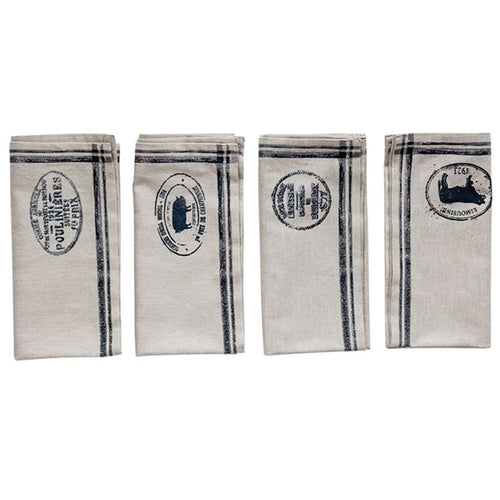 Casual Country Square Cotton Napkins, Set of 4
