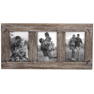 4x6 Three Photo Weathered Frame