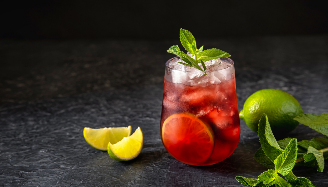 CBD Infused Cranberry, Lime And Mint Spritzer