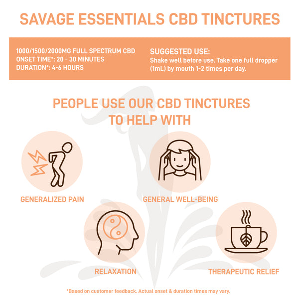 Savage Essentials CBD Tinctures