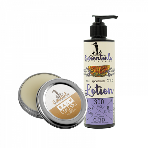 Lavender Citrus CBD Lotion & CBD Balm Bundle