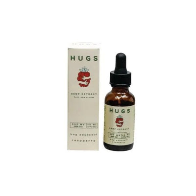 Raspberry Full Spectrum CBD Tincture by Hugs