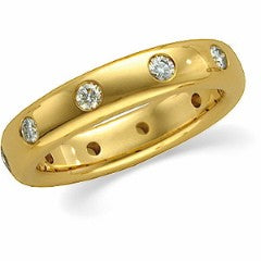14kt Yellow Gold and Diamond Band