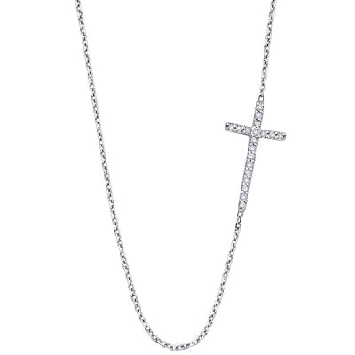 Diamond Stationed Cross Necklace