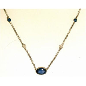 Custom Bezel Set Necklace