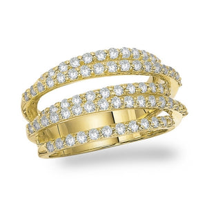 Large Diamond Rollercoaster Ring