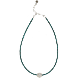 Freshwater Pearl & Turquoise Necklace