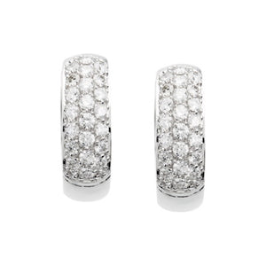 7/8ct Diamond Hoop Earrings