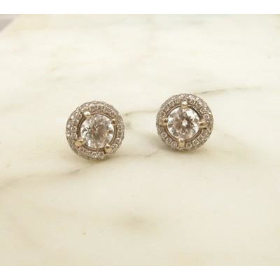 Pavé Set Diamond Studs