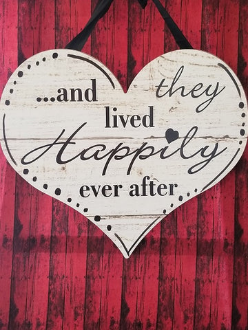 Happily Ever After Wall Hanging