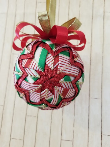 Ribbon Candy Christmas Ornament