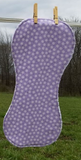 Purple Flannel and Terry Cloth Burp Cloth
