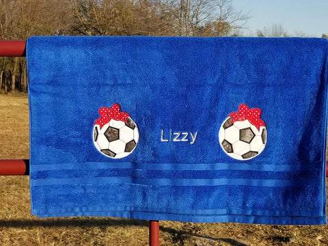 Personalized Soccer Bath Towel