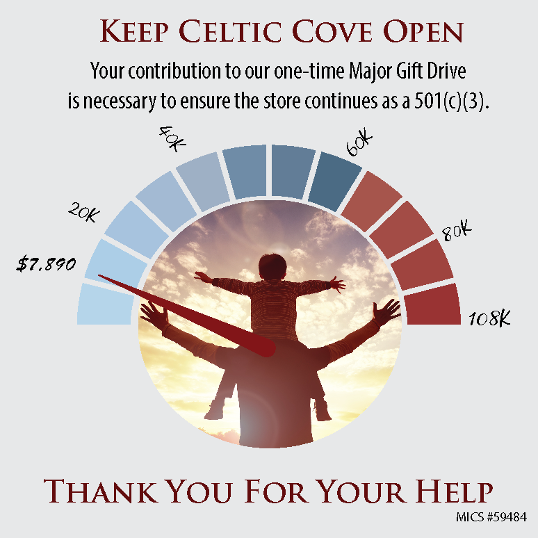 Keep Celtic Cove Open Major Gift Drive guage